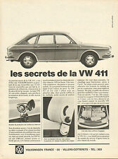 Publicité Advertising 1968  VOLKSWAGEN 411  VW vintage print AD