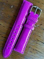 MICHELE MS20AA030533  20mm ORCHID Lizard Leather Watch Strap New $140 VIBRANT!