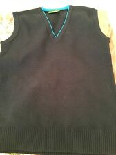 Balmoral TPA Boys Blue V Neck Sleeveless Tank Top Sweater 34 inch Acrylic