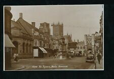 Somerset WELLS The Square Crown & Red Lion 1950s? RP PPC by Sweetman Tunbridge