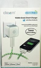 Dexim 2.1 AMP Visible Green Smart USB Charger for iPhone 4, iPod 4th Gen, iPad 3