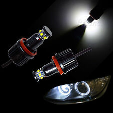 Pair 60W H8 Cree XB-D LED White Halo Ring Angel Eye Bulbs for BMW F01 F02 F03 P3