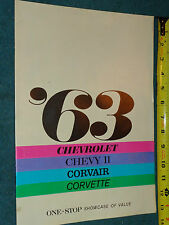 1963 CHEVROLET / CORVETTE / CORVAIR / BELAIR / CHEVY II+ SALES BROCHURE ORIGINAL