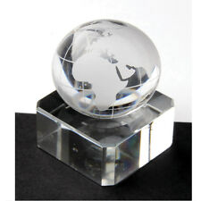 NEW SINGLE CLEAR GLASS WORLD GLOBE MAP 30mm MARBLE TRADITIONAL COLLECTORS ITEM