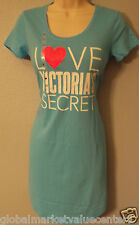 Victoria's Secret Women's Blue Cotton Lingerie Sleepwear Shirt Extra Small NWT
