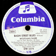Wolfgang sauer chante jazz!!! Basin street Blues/for you my love 78rpm s9176