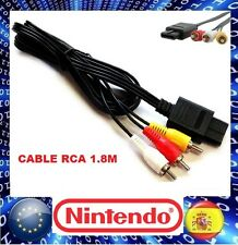 promo! CABLE AV RCA SUPER NINTENDO 64 GAMECUBE SNES AUDIO y VIDEO LANZAMIENTO