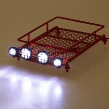 Austar Roof Luggage Rack with LED Light Bar for 1/10 1/8 RC Cars Rock Rally M5N3