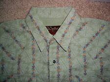 Walls RanchWear Country Western Cowboy Floral Pearl Snap Men's Sz M/L L/S Shirt