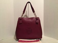 New Authentic Tory Burch Harper Tote Dark Merlot Bag