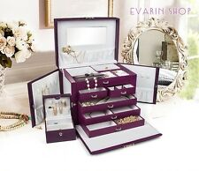 Jewelry Watch Necklace Storage Organizer Chest Box Cabinet Case Holder Drawer