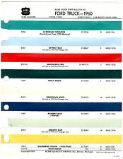 1956 1957 1958 1959 1960 1961 1962 FORD TRUCK VANS PICKUPS PAINT CHIPS 60 ACME 4