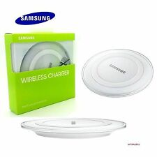 NEW SAMSUNG GALAXY S7 & S6 EDGE QI WIRELESS CHARGER CHARGING PAD PLATE WHITE