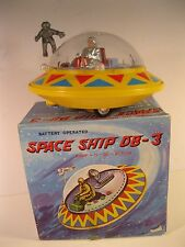 SPACE SHIP DB-3 HONG KONG 1970's BUMP 'N GO B/O MINT IN ORIGINAL BOX VINTAGE