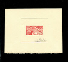 Laos 1957 RICE Complete set of 4 signed Artist Die Proofs IN RED Scott 37-40