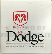 1997 Dodge Sales Guide Dealer Album Viper Ram Pickup Truck Van Neon Dakota Etc.