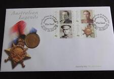 2000  B/U AUSTRALIA $1 COIN + STAMPS PNC THE LAST ANZACS AUSTRALIAN LEGENDS