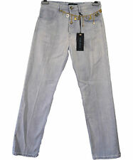 GUESS by MARCIANO Baggy Boyfriend Gold Chain Straight Denim Wash Jeans W28 I56