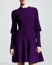 ICONIC Sold Out CHIC Alexander McQueen ARCHITECTURAL SILHOUETTE BLUE wool dress