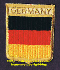 LMH PATCH Woven Badge  GERMANY  German FLAG Shield Pennant Black Red Yellow used