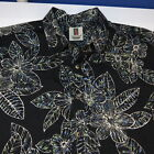 NEW TORI RICHARD FLORAL HAWAIIAN BAHAMA ALOHA SHIRT Sz Mens XXL Black
