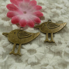 free ship 21 pieces bronze plated bird charms 33x27mm #4313