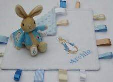 Peter Rabbit Taggy Comfort Blanket & Peter Rabbit Soft Rattle  -  Baby Gift Set