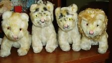 4 TIGER AND LION FUZZY STUFFED ANIMALS