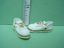 Dollhouse Miniature White Handcrafted Sneakers wi Star- 1/12th Scale Prestige