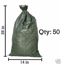 Sandbaggy 50 Green Empty Sandbags For Sale 14x26 Sandbag Sand Bags Bag Poly