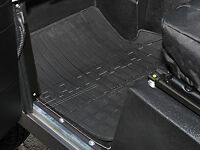 LAND ROVER DEFENDER 90 110 130 FRONT BLACK RUBBER MAT SET - PAIR - DA4423