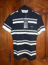 polo manches courtes tennis LACOSTE marine/blanc taille 3 - neuf