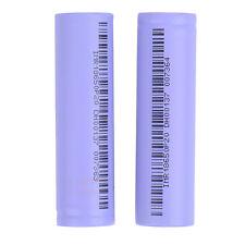 Rechargeable 2pcs 18650 Li-ion Vape Battery 2000mAh 3.7V Unprotected Flat