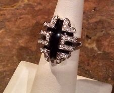 "NOLAN MILLER GLAMOUR COLLECTION ""EXOTIC ONYX RING"" SIZE 5 SPECTACULAR"