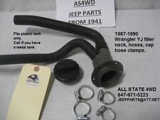 GAS TANK FILL NECK, GAS CAP, HOSES & CLAMPS, 1987-90 Jeep Wrangler YJ BRAND NEW