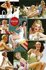 Coca Cola : Girl Colour Collage - Maxi Poster 61cm x 91.5cm (new & sealed)