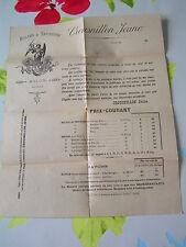 huilerie savonnerie CROUSNILLON JEUNE SALON DE PROVENCE années 1890 détail prix