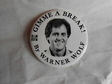 Vintage Gimme a Break! Book by Warner Wolf Sports Broadcaster TV Anchor Pinback