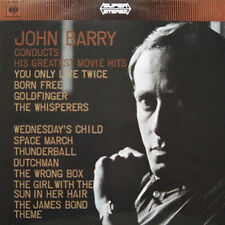 "John Barry conducts his Greatest Movie Hits 1967 LP 12""33rpm vinyl record (ex)"