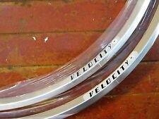 2x NOS VELOCITY Escape 700c Rims 32 hole Silver Tubular Sew-Up Australia Made
