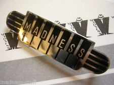 MADNESS - BLACK PIANO LOGO DIAL-A-STYLE ENAMEL BADGE - SUGGS SKA TWO TONE STIFF