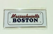 ▓ BOSTON ACRYLIC REF/FRIDGE MAGNET COLLECTIBLE SOUVENIR