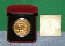 Mickey Mantle New York Yankees Highland Mint Collectible Bronze Medallion Coin