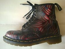 DOC DR MARTENS AMERICAN FLAG BOOTS RARE VINTAGE MADE IN ENGLAND UNISEX 6UK W8 M7