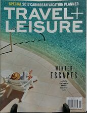 Travel + Leisure Feb 2017 Winter Escapes Caribbean Vacation FREE SHIPPING sb