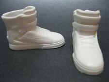 Ken Doll Clothes Fashionista white laces hi high top Tennis Basketball Shoes