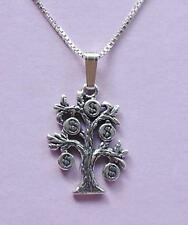 Money Tree Pendant & Chain Necklace STERLING SILVER 925