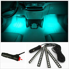 4in1 Ice Blue 12LED Car SUV Interior Atmosphere Glow Decor Neon Light Strip Bars