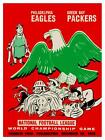 Philadelphia Eagles vs Green Bay Packers *LARGE POSTER* 1960 Football SUPER BOWL