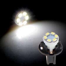 6x 12V 0.2W T10 6 LEDs 1210SMD Instrument Panel Dash Light Bulb White + Holder